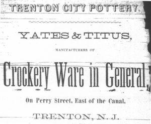 1868 trenton city pottery