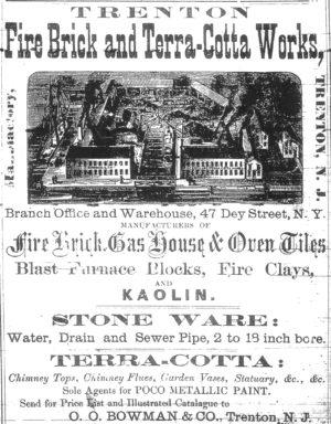 1871 Trenton Fire Brick adn Terra-Cotta Works