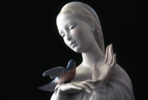 Cybis Porcelains, Madonna with Bird, porcelain, 1956