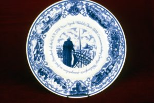 Scammell, souvenir plate for 1939 World's Fair, NYC, NJSM 69.179