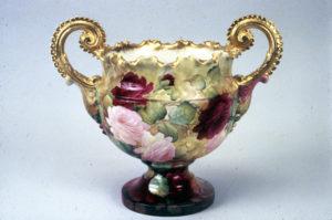 Willets Mfg Co Vase painted by J.T. Baines, Samuel Sheratt's Studio, Trenton