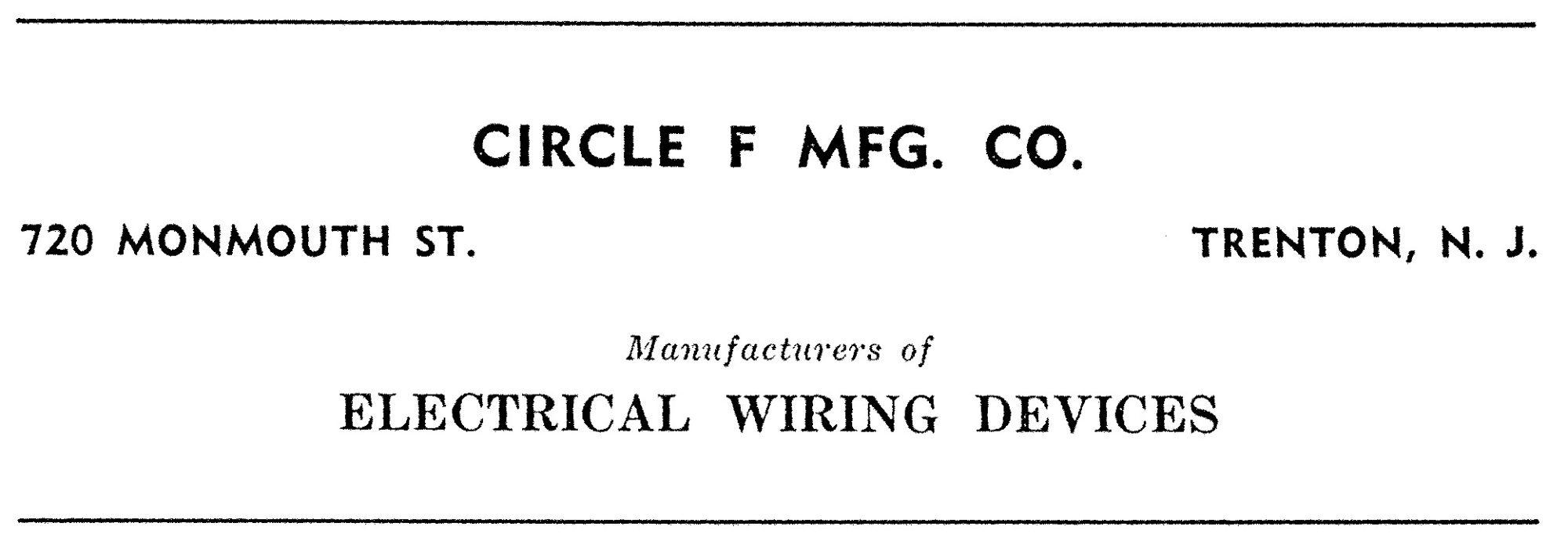 Circle F Mfg Ad